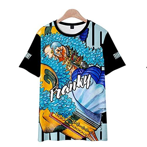 CYANDJ-One Piece-Camiseta de Manga Corta para niños Impresa en 3D, Camisa Polo Neutra y Divertida de Verano, suéter de Fiesta de Moda, Camiseta de Rebeca para niños-120