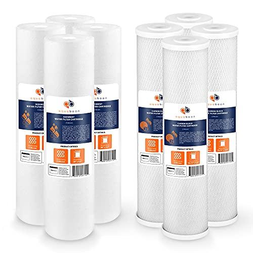 CTO Carbon Block & Sediment 20'x4.5' Replacement Set of Water Filter Cartridges