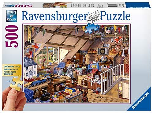 Ravensburger Puzzle 13709 - Großmutters Dachboden - 500 Teile Puzzle für Erwachsene und Kinder ab 10 Jahren, Puzzle mit größeren Teilen