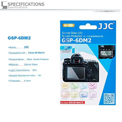 PROfoto.Trend/JJC Displayschutzglas (Displayschutz, Displayschutzabdeckung) für Canon EOS 6D Mark II (Mit 2 x PET-Unterschirmschutz)