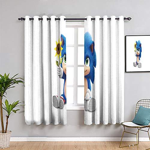 Elliot Dorothy Cortinas decorativas sonic el erizo personalizado Chid cortinas impermeable cortina de ventana ancho 63 x largo 72