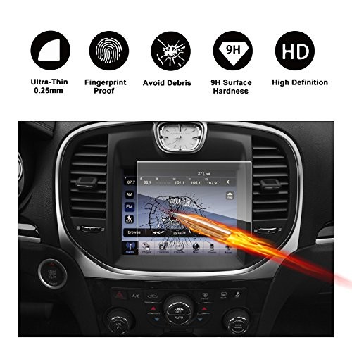 2011-2018 Chrysler 300 Uconnect 8.4 Inch Touch Screen Car Display Navigation Screen Protector,HD Clear TEMPERED GLASS Car In-Dash Screen Protective Film