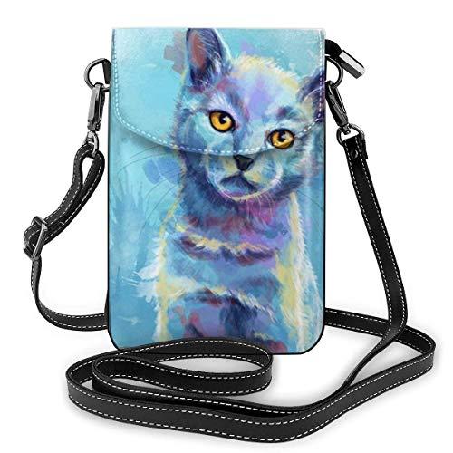 PageHar Cat Small Messenger Bag Bolsos casuales Teléfono Monedero Billetera de hombro