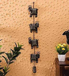 Metal Wall Brown Cow Hanging Bell by accurate art (4.5x1x30in)