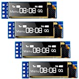 Seamuing I2C - Módulo de pantalla OLED I2C SSD1306, módulo pequeño de 0,91 pulgadas, bl...