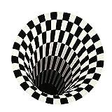YWYW Tappeto 3D Visione Stereo Tappeto Rotondo 3D Illusione Camera vortice Camera da Letto...