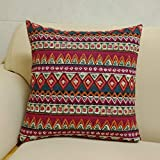 Aimeer Home Decorative Canvas Oversize Throw Pillow Covers Square Cushion Case for Couch, Sofa, Bed or Car, 24'x24' Large Pillow Shams with Invisible Zipper