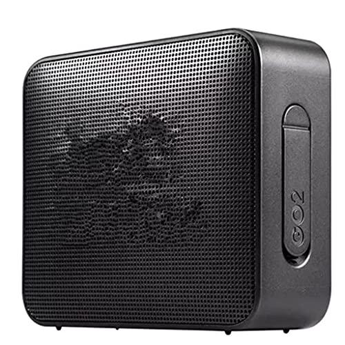 RYSF Drahtloser Bluetooth-Lautsprecher Tragbarer IPX7-wasserdichter Outdoor-Sport-Bluetooth-Lautsprecher Akku mit Mikrofon (Color : Black)