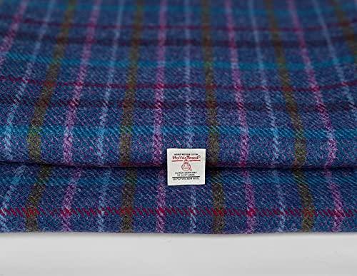 Harris Tweed Autentico tessuto in 100% pura lana, realizzato in Scozia, Tartan, Haberdashery, 1 etichetta inclusa, 50 cm x 75 cm
