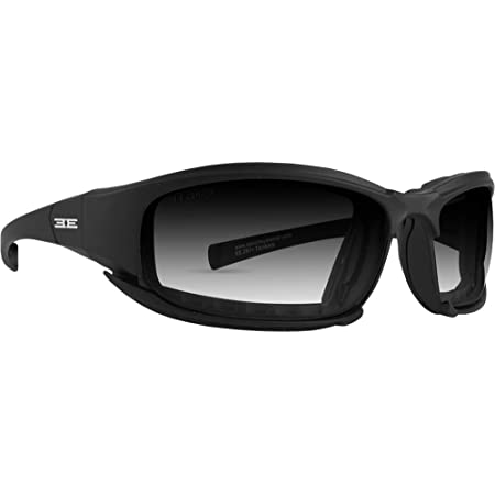 Epoch Hybrid Photochromic Padded Motorcycle Sunglasses Clear to Smoke Lens ANSI Z87.1+