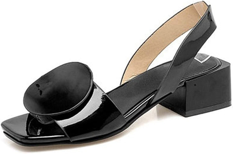 GIY Womens Block Heeled Ankle Strap Sandal Anti-Slip Slip On Summer Outdoor Chunky Heels Dress shoes