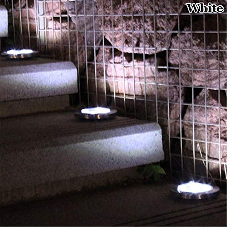 HCHD 8Led 12Led Solar Power begrabenes Licht, Weg-Garten-Decking-Licht der Lampen-im Freien (Emitting Farbe   Weiß-8led)