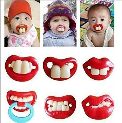 Treasure-House Baby-Schnuller, lustiger Schnuller, Beißring, für Kleinkinder, Zahnmotiv