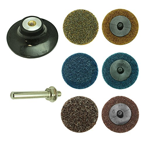 Best Prices! Superior Pads & Abrasives PP30K 3 inch Diameter 7 piece Twist Lock Spindle Disc Surface...