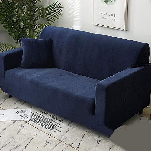 Funda elástica para sofá de invierno con funda para sofá, lavable, color liso, 1 unidad - A-90-140 cm