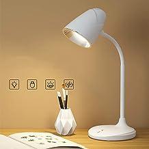 مصباح مكتبي WD-6046 من ويداسي-WD-6046، ابيض دافئ، ضوء ليد للقراءة للطاولة، 3 مصابيح قابلة للطي مع منفذ شحن يو اس بي، نظام ...