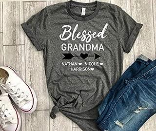 Custom gift Mother's day gift for grandma blessed t-shirt