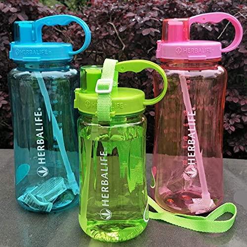 ABRC 1L 2L 1000ml 2000ml Botella de Agua de Gran tamaño Naranja Frozem Botella portátil...