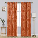 Deconovo Blackout Curtain Room Darkening Thermal Insulated Draperies Grommet Window Treatments for Bedroom, 52x84 Inch, Orange