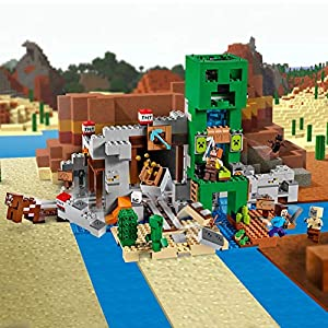 Amazon.co.jp - レゴ マインクラフト 巨大クリーパー像の鉱山 21155