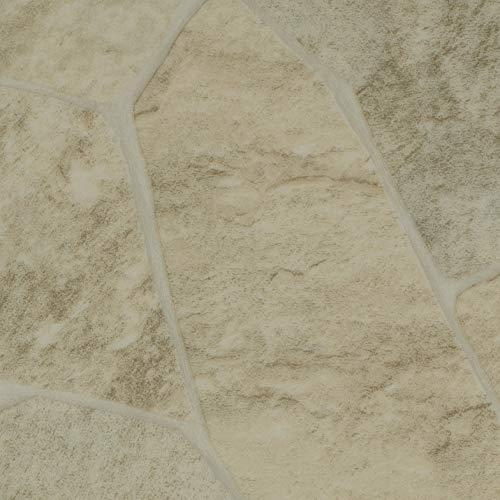 TAPETENSPEZI PVC Bodenbelag Bruchstein Beige | Vinylboden als Muster | Fußbodenheizung geeignet | Vinyl Planken strapazierfähig & pflegeleicht | Fußbodenbelag für Gewerbe und Wohnbereich