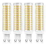 LXX Bombillas LED G9 de 15W Equivalente a Bombilla halogena de 150W, Blanco Frio 6000K, sin Parpadeo, Regulables, Que ahorran energia Bombillas LED G9, CA 220-240V, Paquete de 4