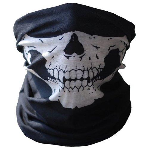 Codxer® Call of Duty Fahrrad Skull halbe Gesicht Maske Ghost Schal Multi Use Nacken wärmer