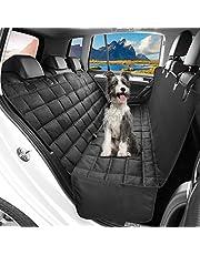 OMORC Coprisedile per Auto per Cani, Coprisedile Posteriore Antiscivolo per Cani con Alette Laterali, Lavabile in Lavatrice, Protezione per Seggiolino Auto 3 in 1