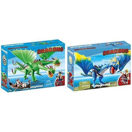 PLAYMOBIL 9458 Spielzeug - Raffnuss und Taffnuss mit Kotz und Würg Unisex-Kinder &  9247 - Astrid und Sturmpfeil