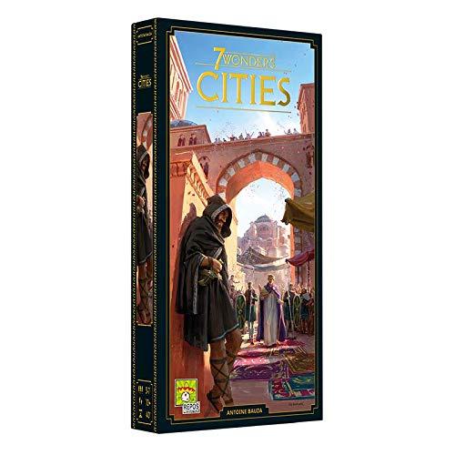 Asmodee 7 Wonders - Cities (Auflage 2020), Erweiterung, Kennerspiel, Strategiespiel, Deutsch