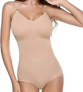 Body Briefer for Women Tummy Control Extra Firm Bodysuit Shapewear Seamless One Piece Shaper with Bra