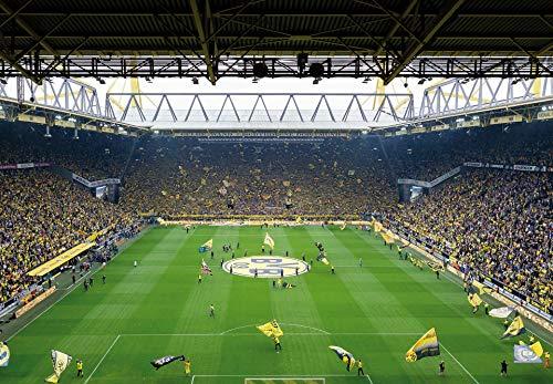 Fototapete BVB Südtribüne Stadion Papiertapete Fußball in gelb schwarz grün weiß 366 x 254 cm XXL Wandtapete Wandbild 118847