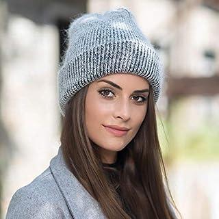c33f9e6884608 HAOLIEQUAN Nouvel Angola Lapin Velours Tricot Bonnets Chapeau Chapeau d'hiver  Chapeau De Femme Angora