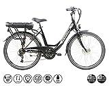 F.lli Schiano E- Moon Bicicleta eléctrica, Adultos Unisex, Negra, 26'