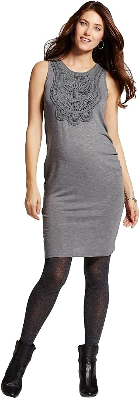 Liz Lange Maternity Crochet Front Dress