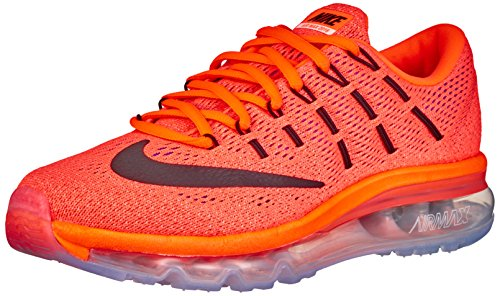 Nike Wmns Air Max 2016 Scarpe da ginnastica, Donna, Arancione (Hyper Orange / Black-sunset Glow), EU 38.5 (US 7.5)