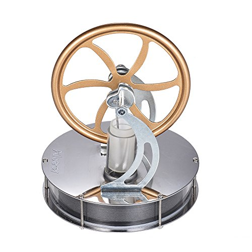 Aibecy Low Temperature Stirling Engine Motor Modelo Heat Steam Education Toy Kit de bricolaje