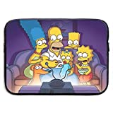 The Simpsons Laptop Sleeve Case 15 Inch Neoprene Protective Case/Notebook Computer Pocket Case/Tablet Briefcase Carrying Bag Compatible/Soft Carrying Zipper Bag