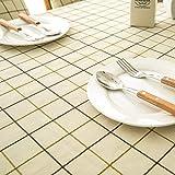 NHhuai Borla del Paño de Tabla del Lino del Algodón para la Cubierta de Tabla de Cena del Banquete Borla de Tela Escocesa Impermeable Jacquard de poliéster