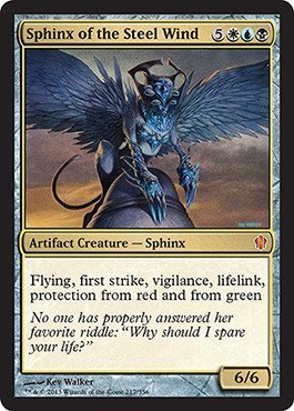 Magic The Gathering - Sphinx of The Steel Wind (217/356) - Commander 2013