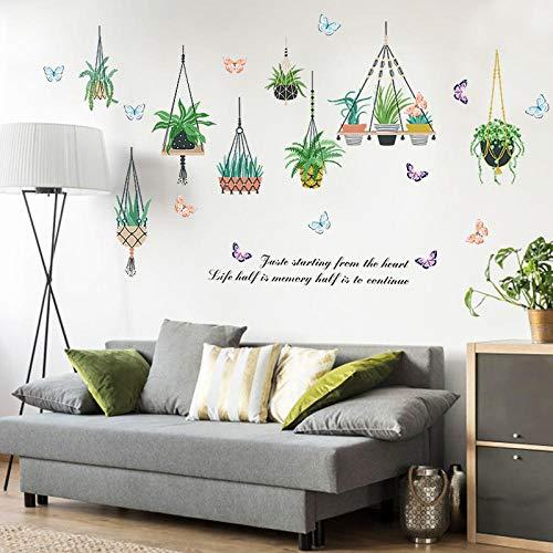 Muursticker Nordmann, modern, bladgroen, plant, mand om zelf te maken, stickers voor kinderkamer, slaapkamer, stickers, muurstickers voor school, kleuterschool, van vinyl
