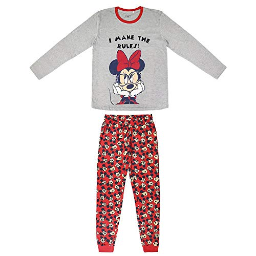 CERDÁ LIFE'S LITTLE MOMENTS Mujer Pijama Minnie Mouse-Licencia Oficial Disney, Gris, L