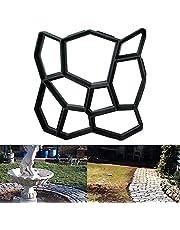 Lubudup Promenadform betongform av trottoarer formgjutform plastformar trädgårdsplåster gplåster cementsten gör-det-själv stenbana mögel trädgårdsdekoration verktyg