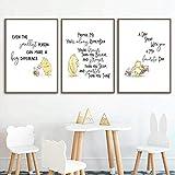 Klassische Winnie The Pooh Poster Zitat drucken