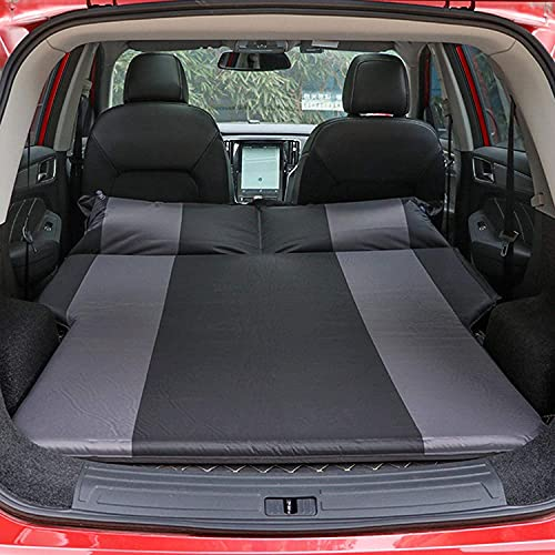 QAZX Materasso Ad Aria per Auto Lettino da Campeggio Ad Aria Automatica per Bagagliaio con 2 Cuscini d Aria e Sedile Posteriore per Materassino Gonfiabile Portatile per Auto per Viaggi