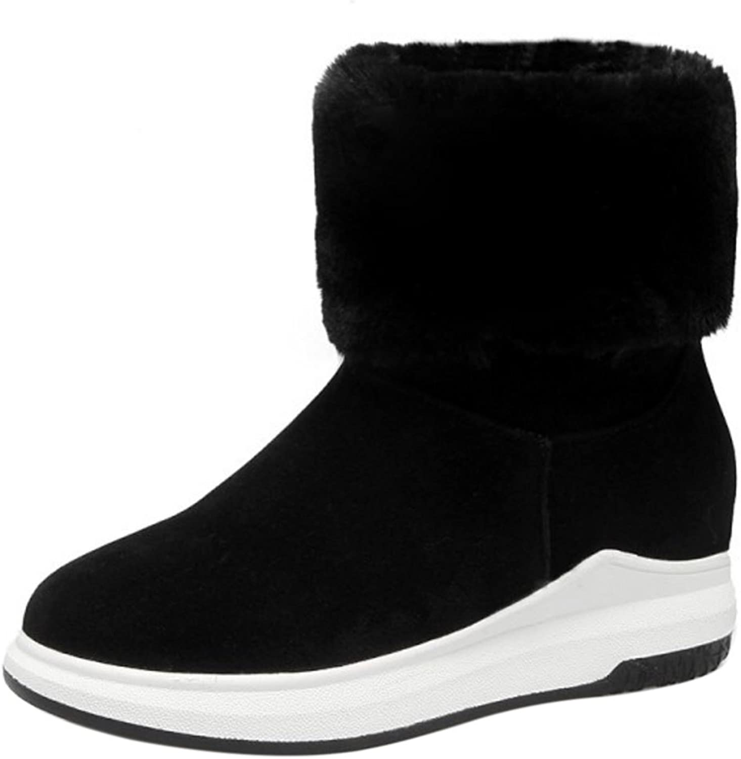 FANIMILA Women Boots Pull On Thick Sole