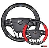 Hcxh-A Adatto per Volvo Coperchio del Volante in Cuoio in Fibra di Carbonio XC90 S80 XC60 S90 V70 V50 S40 V60 XC70 V40 (Color Name : 38cm Black)