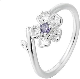 Lozse Anelli regolabili S925 argento anelli allergia anello di apertura per inviare a parenti e amici regalo di compleanno...