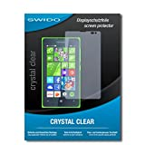 SWIDO Bildschirmschutz für Microsoft Lumia 435 [4 Stück] Kristall-Klar, Hoher Festigkeitgrad, Schutz vor Öl, Staub & Kratzer/Schutzfolie, Bildschirmschutzfolie, Panzerglas Folie