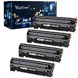 Valuetoner Compatible Toner Cartridge Replacement for Canon 128 CRG-128 3500B001AA ImageCLASS D530 D550 MF4570dw MF4770n MF4880dw MF4890dw MF4450 MF4420n FaxPhone L190 L100 Printer (Black, 4 Pack)